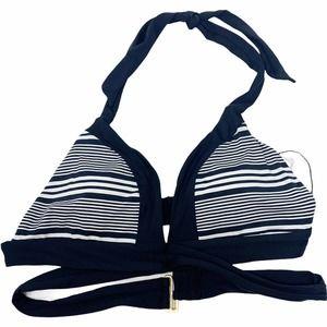SUNN LAB SWIM | Striped Halter Bikini Top